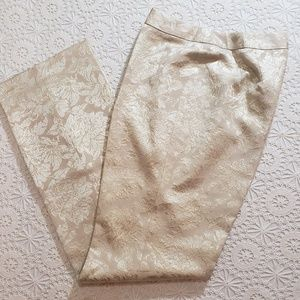 Talbots Brocade Party Pants, Sz 6